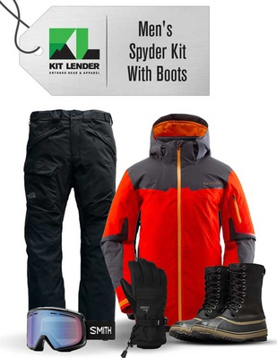 [Complete Outerwear with Boots KIT] - Mens - Spyder  (Red / Gore-Tex)