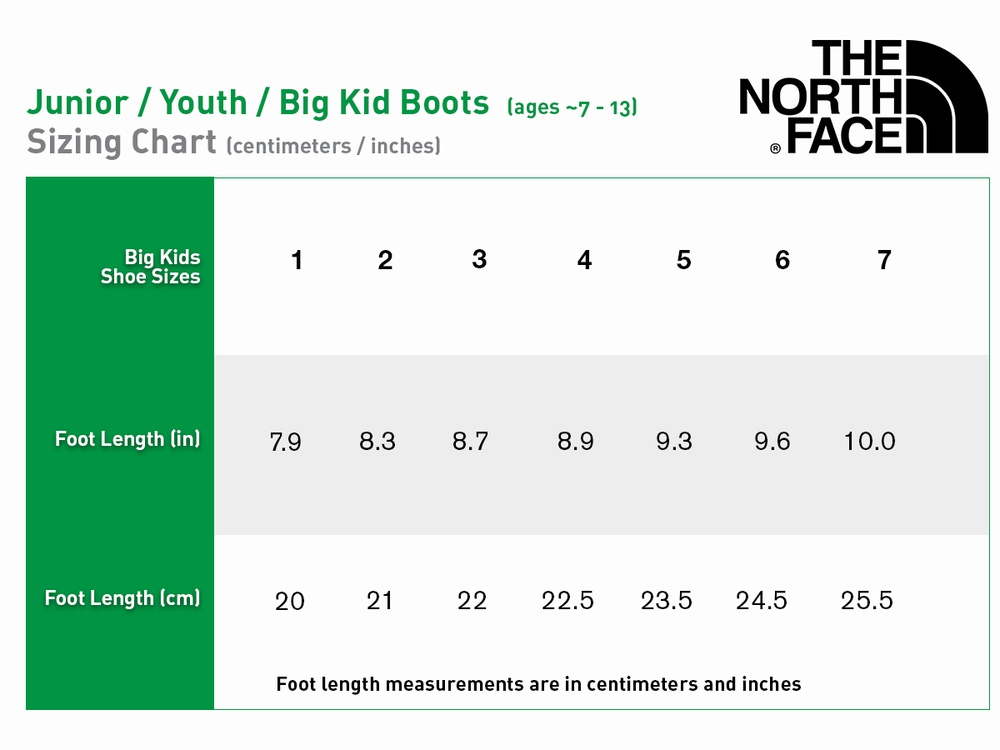 [Boots] - The North Face - Junior / Youth / Big Kid (ages ~7 - 13) Unisex