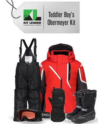 [Complete Outerwear with Boots KIT] - Toddler Boys - Obermeyer (Red | Horizon)