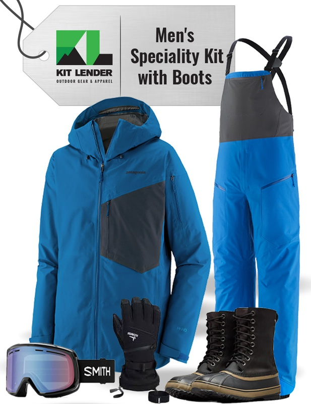 [Complete Outerwear with Boots KIT] - Men's - Patagonia (Blue | Snowdrifter)
